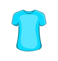 Mens summer t-shirt icon cartoon style vector image