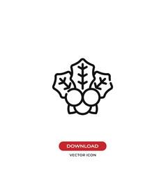 mistletoe icon vector image