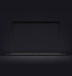 modern premium ultrathin laptop mockup vector image
