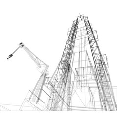 Oil rig detailed vector