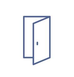 Open door icon in line art style lineart doorway vector