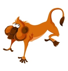 Orange cartoon monkey vector image