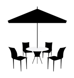Patio set vector