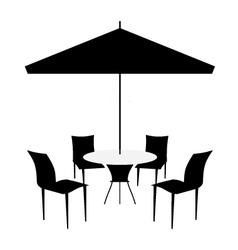 patio set vector image