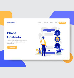 Phone contacts vector