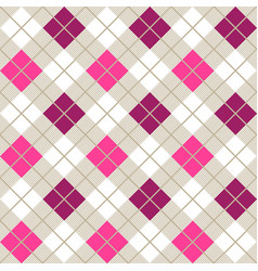 pink and purple argyle harlequin seamless pattern vector image