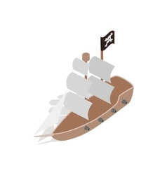 Pirate ship icon isometric 3d style vector image