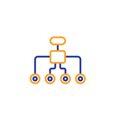 Restructuring line icon business architecture vector