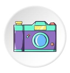 Retro photo camera icon cartoon style vector image