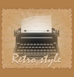 retro style poster old typewriter vector image