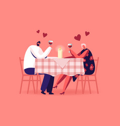 romantic relations meeting happy loving couple vector image