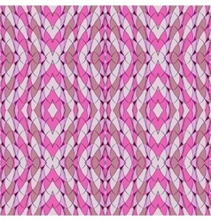 Seamless pattern in pink with arches and lozenges vector