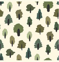Seamless summer forest print vector
