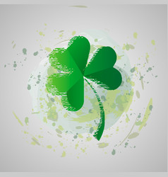 St patrick s day grunge four vector