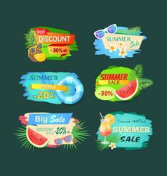 summer discount sales banner vector image