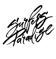 Surfers paradise modern calligraphy hand vector