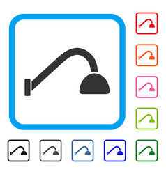 Tap mixer framed icon vector