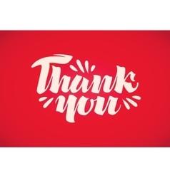 Thank you handwritten inscription vector