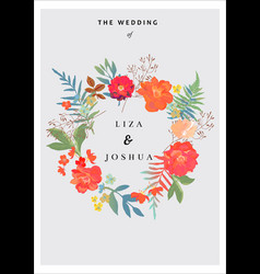wedding background with floral background vector image