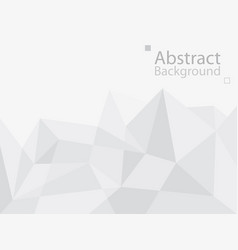 white gray technology background triangle vector image