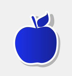 apple sign new year bluish vector image vector image