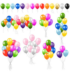balloon set vector image vector image