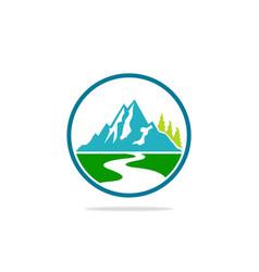 Mountain landscape hill logo vector