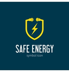 Safe Energy With Blizzard Concept Symbol Icon or vector image vector image