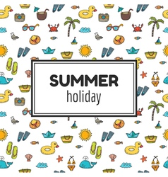 Summer holiday Summer tropical vacation background vector image