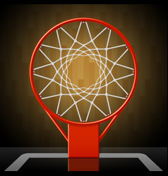 Basketball hoop vector image