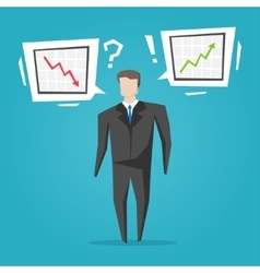 Businessman with different charts vector image