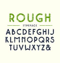 decorative sanserif bulk font with rounded corners vector image