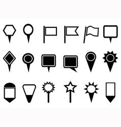 map pointer and Navigation icons vector image vector image