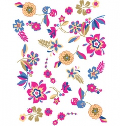 sketch flowers vector image vector image