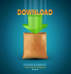 icon download vector image