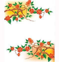 Japanese blossom vector image vector image