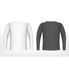 Mens white and black t-shirt vector image