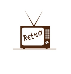 old tv in brown color vector image