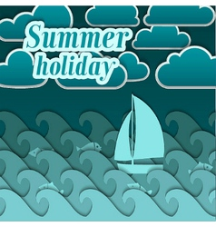Summer paper background vector image vector image