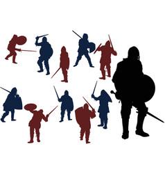 swordsmans vector image vector image