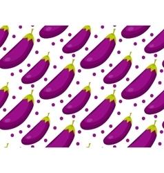 Eggplant seamless pattern Aubergine endless vector image vector image