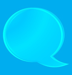 empty transparent glass chat bubble on a blue vector image