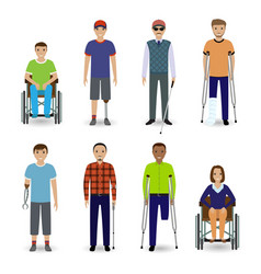 invalid people concept group of eight different vector image