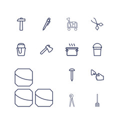 13 tool icons vector