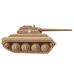 A brown military tank vector image