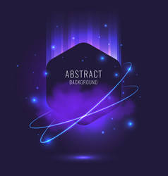 Abstract background with dynamic particles vector