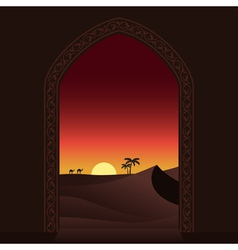 Arabian sunset vector