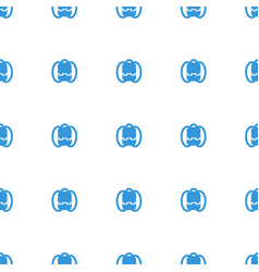 Backpack icon pattern seamless white background vector