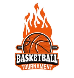 Basketball tournament emblem template vector
