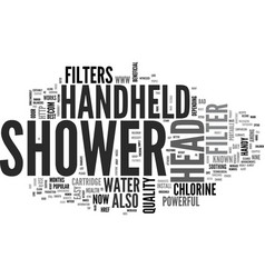 Best top rated handheld shower head text word vector